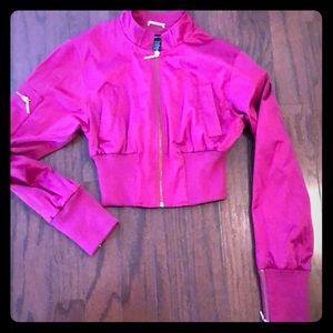 Arden B Fuchsia cropped jacket